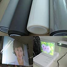 """[HOHO] Holographic Rear Projection Screen Film Office Presentation Projection Screens 60""""x40"""" (Transparent)"""