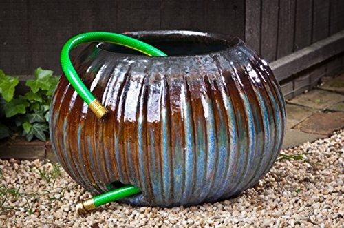 Campania International 150850-1601 Bristow Ribbed Hose Pot, Art Pottery Finish ()