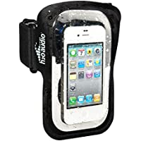 Amphibx Fit Waterproof and Sweatproof Armband for iPhone including iPhone 7, iPod touch, Large MP3 Players, and Music-Enabled Phones (Black/Clear)