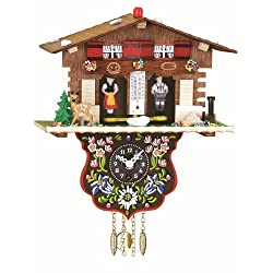 Black Forest Clock Swiss House Weather House, incl. battery TU 807 PQ