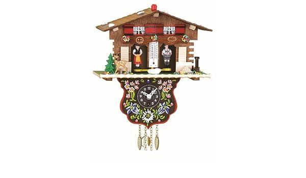 Trenkle Reloj en Miniatura de la Selva Negra casa Suiza casita meteorológica: Amazon.es: Hogar