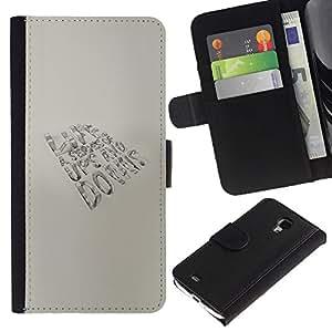 LECELL--Cuero de la tarjeta la carpeta del tirón Smartphone Slots Protección Holder For Samsung Galaxy S4 Mini i9190 -- Altibajos VIDA --