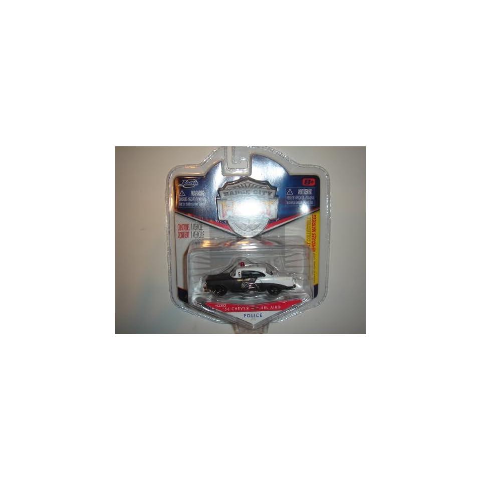 2011 Jada Wave 3 Badge City Heat 56 Chevy Bel Air Highway Patrol Black/White #030
