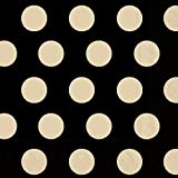 Ideal Home Range 20-Count Boston International Big Dots 3-Ply Paper Cocktail Napkins, 5x5-Inch, Black and Gold