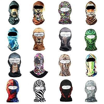CAMTOA Motorcycle Cycling Face Mask Breathable Anti UV Face Mask Headgear Hats Lycra Balaclava Full Face Mask Neck Hood Animal Styles for Outdoor Motorcycle Bike Cycling Sports Skiing Fishing Climbing