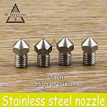 Olsson Block Kit with Stainless Steel Nozzle for Ultimaker 2 3D Printer 3.0mm Olsson Block Hotend Interchangeable Nozzle UM2 Extended