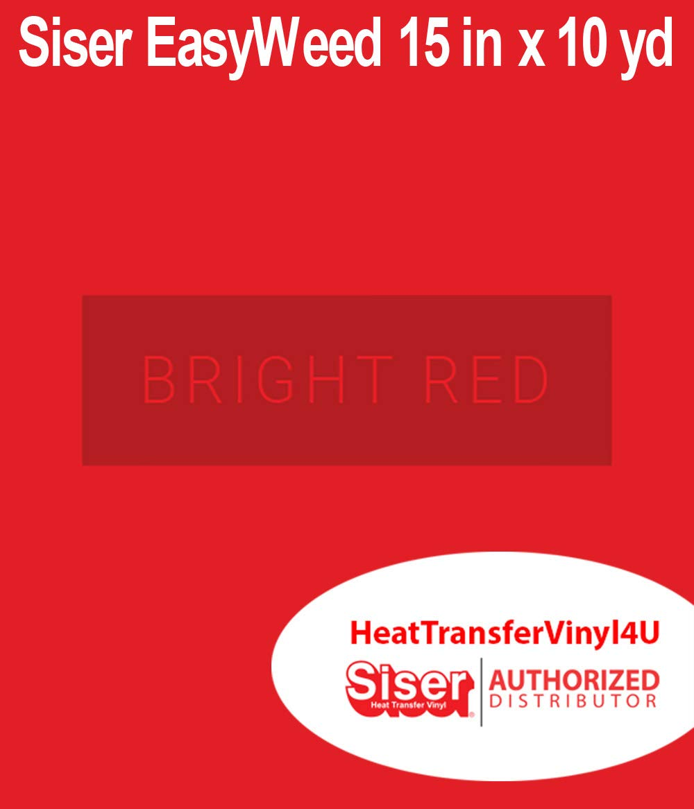 Siser Easyweed Heat Transfer Vinyl Bright Red 15 Inches by 10 Yards
