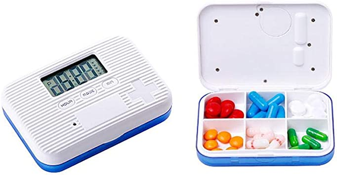 Kobwa - Organizador de pastillas de alarma con 5 recordatorios de ...