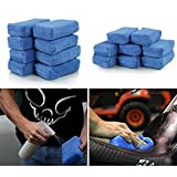AUTOFAN Car Seat Multi-Use Sponges 8-Packs, 16-Packs, 24-Packs,32-Packs, Used For Kitchen & Household Cleaning, Outdoor Usage, Car Cleaning, Blue