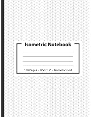 """Isometric Graph Paper Notebook: Architectural Drafting Graph Paper 