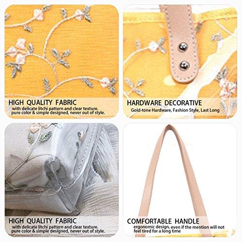 Top Women's Handbags Body Handle Yellow Bags Shoulder Bags Cross Faux Bags Leather rq8wrXT