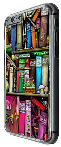 1286 - Cool Fun Trendy cute kwaii book shelves books library colourful cartoon sketch Design iphone 4 4S Coque Fashion Trend Case Coque Protection Cover plastique et métal - Clear