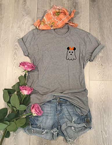 2301a9309d1 Amazon.com  Mickey Boo. Fun Halloween Disney Shirt. Halloween T-Shirt.  Disney Trip Shirt. Unisex Fit. Crew-Neck Shirt. Free Shipping. Fun Halloween .