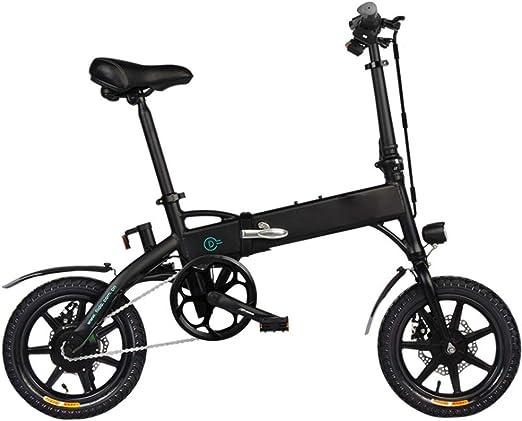 TMXWHYQ Bicicleta eléctrica Plegable de 14 Pulgadas asistidos de ...