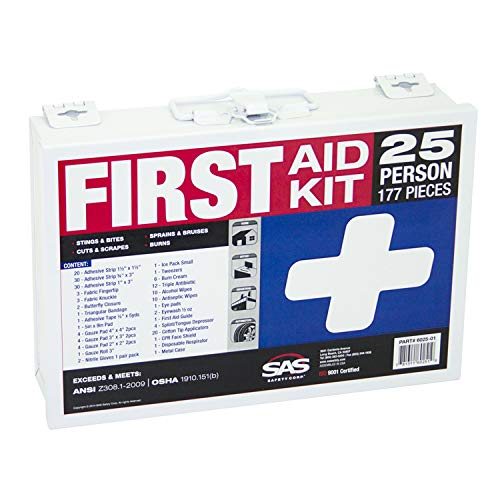 First Person 1 Aid (SAS Safety 6025-01 25-Person First-Aid Kit, Metal Box)