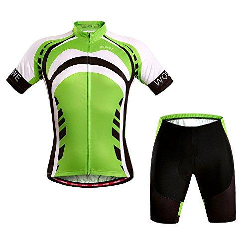 WOLFBIKE Hombres Ciclismo Jersey bicicleta ciclo Jersey de manga corta para hombre camisas Tops, transpirable y cómodo 4d...