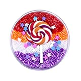 Kariwell Fluffy Slime - Beautiful Color Mixing Cloud Slime Putty - Mud Fluffy Cotton Candy Lollipop Slime Clay Toy - Scented Stress Relief Kids Clay Sludge Toy 60ML (C❤️)