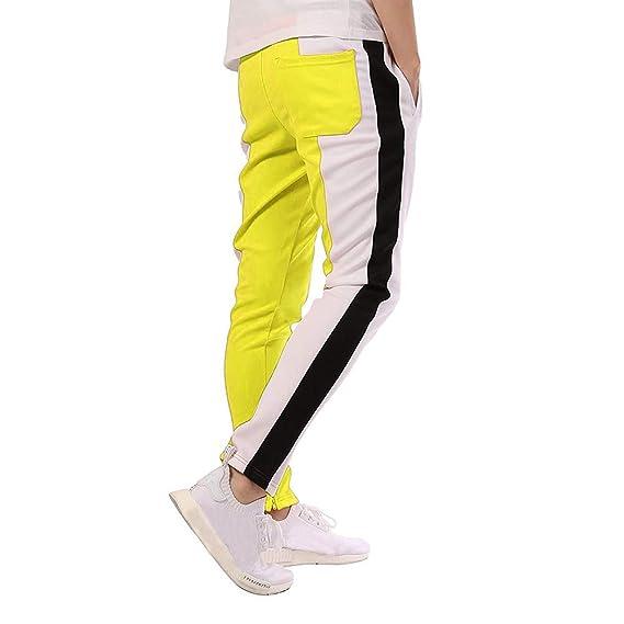 ♚ Pantalón con cordón de los Hombres de la Moda, Pantalones de chándal Sueltos Ocasionales del Deporte de la Aptitud Que Activa Absolute: Amazon.es: Ropa y ...