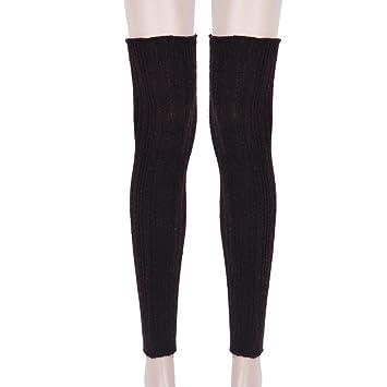 Por encima de la rodilla calcetines calentadores de la pierna, morecome mujeres de punto calcetines