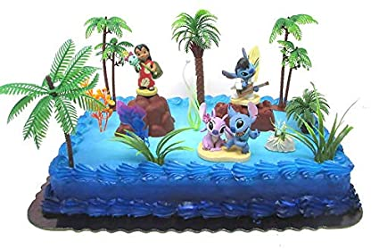 Amazon.com: Lilo and Stitch - Decoración para tartas de ...