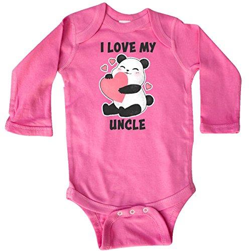 Love Raspberry (inktastic Love My Uncle With Long Sleeve Creeper Newborn Raspberry 2e397)