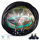 Trampoline Water Play 50 FT 12 Nozzles Misting Outdoor Cooling System Kit Waterpark Summer Game Toys Accessories for Kids in Outdoor Swimming Pool Patio Garden Lawn Greenhouse Irrigation Sprinkle