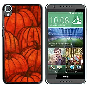 iKiki Tech / Estuche rígido - Fall Halloween Orange Autumn - HTC Desire 820