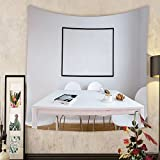 Madeleine Ellis Custom tapestry blank picture frame on the wall in the kitchen d render