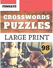 Crosswords Puzzles: Fungate Activity Crosswords Easy large print crossword puzzle books for seniors | Classic Vol.98