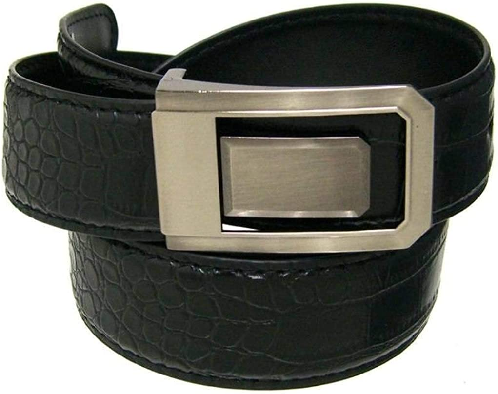 RDumani Mens Belts Width Croco Embossed Belts 35mm Up to 60