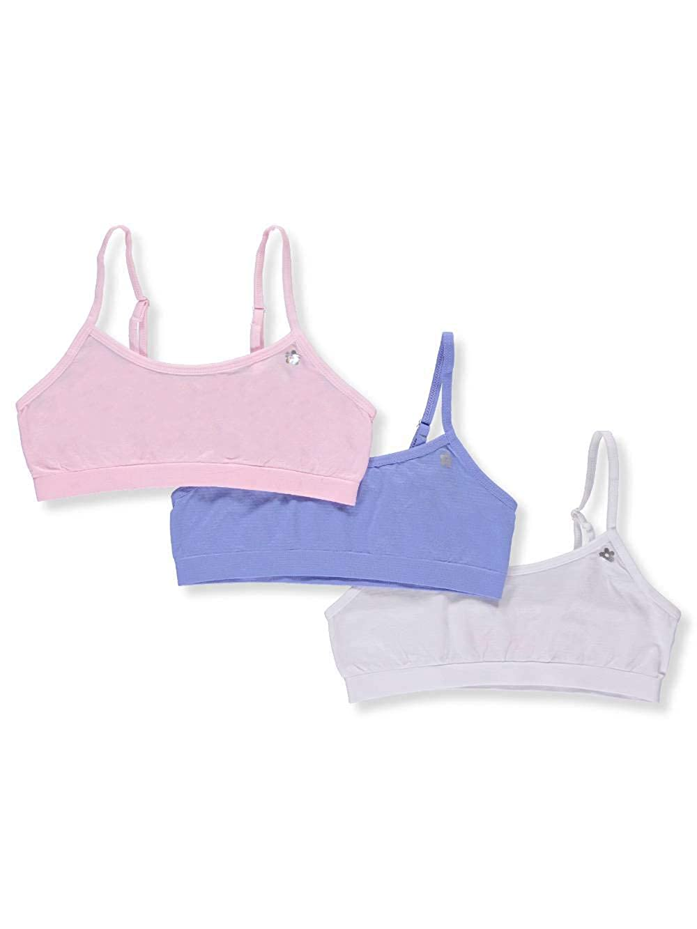 Limited Too Girls' 3-Pack Seamless Bras Panties Plus