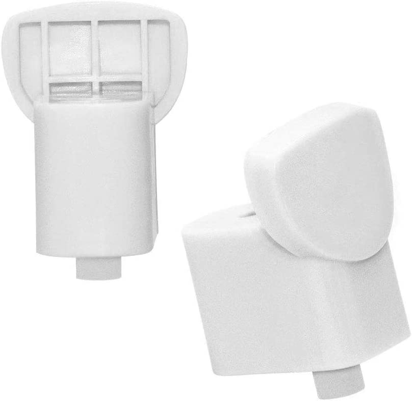 AMI PARTS WB06X10943 Handle Support White Compatible with GE Microwave 2 Pack