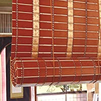 LXF Estores Enrollables Persianas enrollables de PVC para Patio al Aire Libre a Prueba de Agua, Parasoles para Ventana de pérgola 70% Blackout, 55cm / 75cm / 95cm / 115cm / 135cm