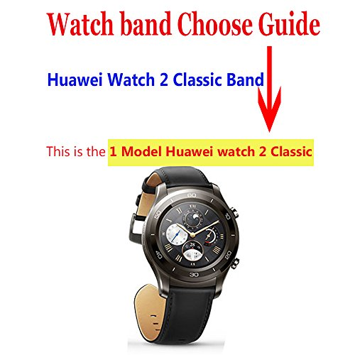 Huawei Watch 2 Classic - Titanium Grey Band, CBIN 22mm Solid Stainless Steel Metal Business Replacement Bracelet Strap for Huawei Watch 2 Classic Smartwatch - Titanium Grey (Metal Black) by Cbin (Image #2)