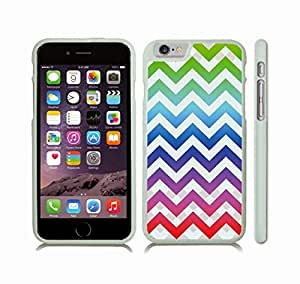 Case Cover For Ipod Touch 5 with Chevron Pattern Rainbow/ White Pattern Stripe Snap-on Cover, Hard Carrying Case (White)