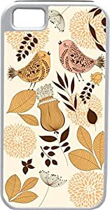 iPhone 5 5S Cases Customized Gifts Cover Love Birds Singing floral design background Case for iPhone 5 5S