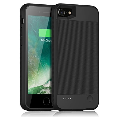 iPhone 7 Battery Case, Gixvdcu 2800mAh Ultra Slim Portable Charging Case for iPhone 7 (4.7inch) with 4 LED Indication Extended Juice Pack Charger Cover - Black