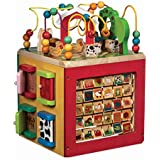 Battat – Wooden Activity Cube – Discover Farm Animals Activity Center for Kids 1 year +