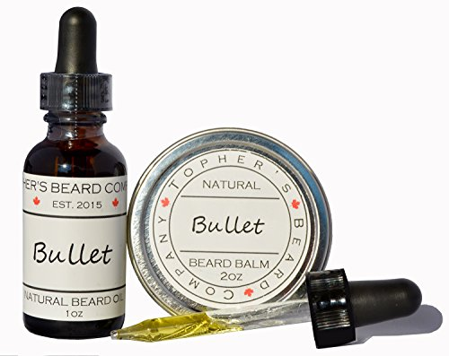 bullet-gunpowder-scented-beard-oil-and-balm-combo-1oz-2oz-tophers-beard-company-for-growth-moisturiz