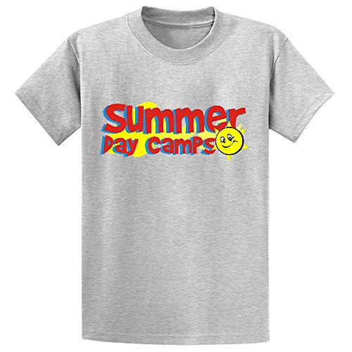 Cutestory Summer Day Camps Camping Quote Boys And Girls Design Cotton T Shirts Grey