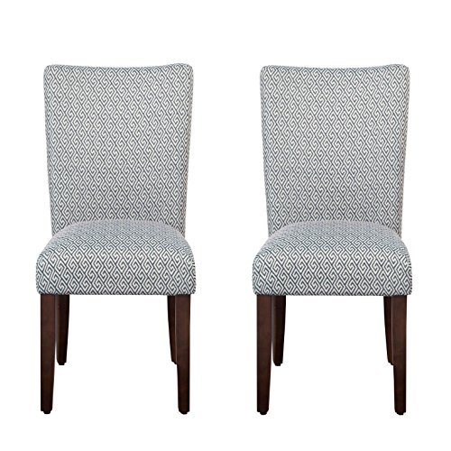 HomePop K6805-F2063 Parsons Classic Dining Chair, Set of 2, Shades - Chair Traditional Chair Parsons