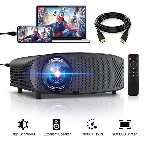 HD Projector, GBTIGER 4000 lumens LED Video...