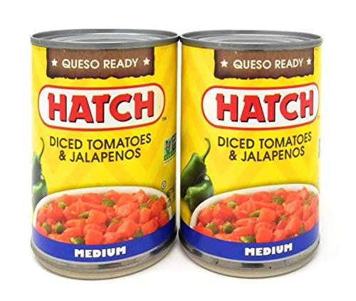 - Hatch Chili Company Diced Tomatoes & Jalapenos Medium Heat 10oz (QTY 2)