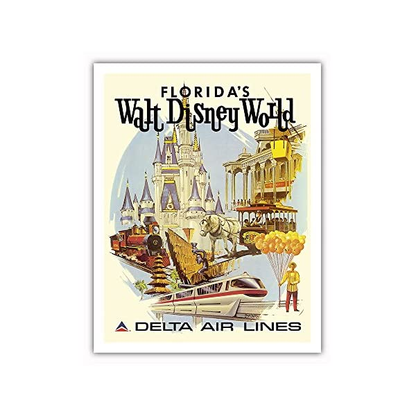 Pacifica Island Art Florida's Walt Disney World – First Year of Operation – Delta Air Lines – Vintage Airline Travel Poster by Daniel C. Sweeney c.1971 – Fine Art Print