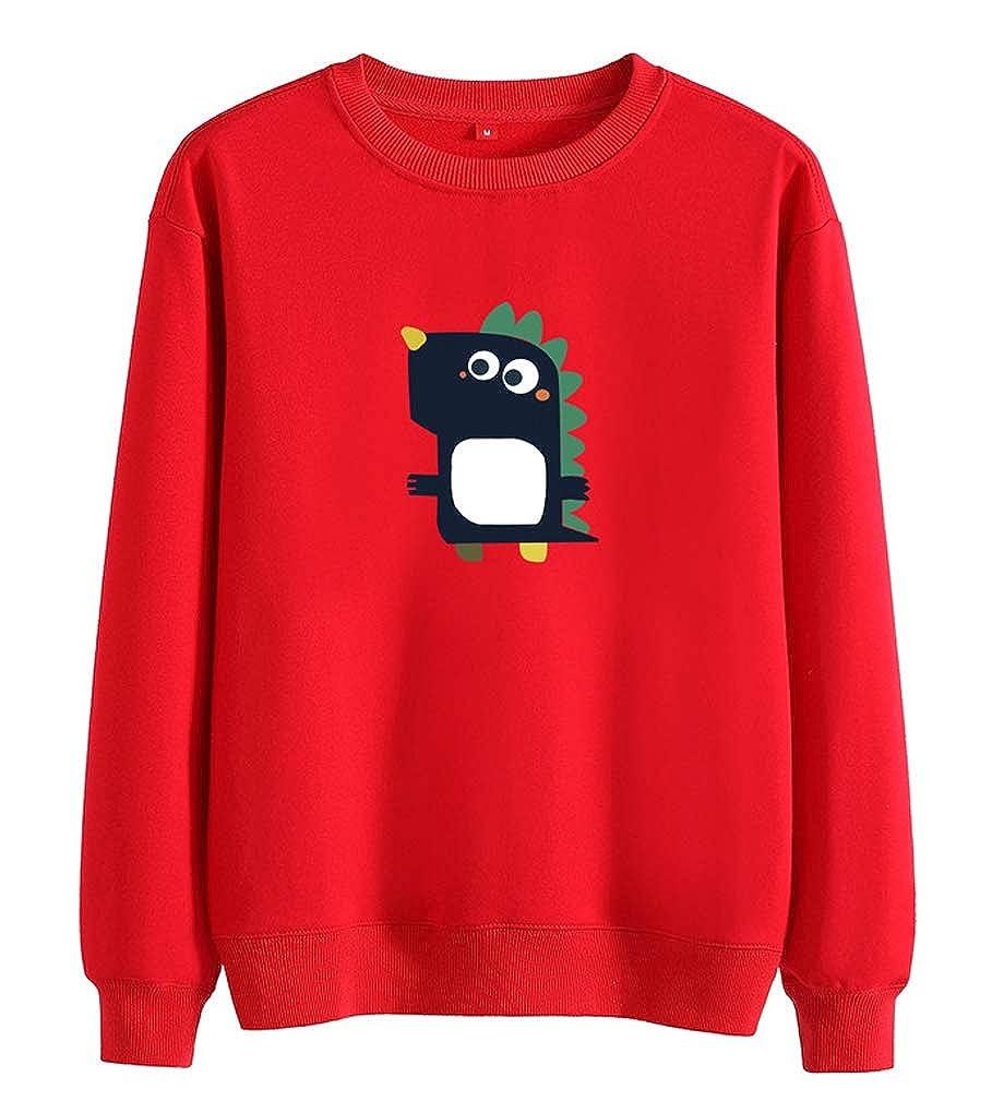 Qinni-shop Toddler Boys Girls Kids Dinosaur Print Pullover Sweatshirt Crew Neck Sweater