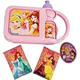 AMAZING Disney Princess Travel Lunch Box Bundle- 2 Items: Lunch Box with Included Canteen & Two Wallet Tissues 3 Ply (10 pcs each- 20 total)