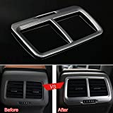 UltaPlay Silver A/C Outlet Vent Frame Cover Trim ABS Interior Car Styling Fit for VW Golf 7 MK7 2014 2015