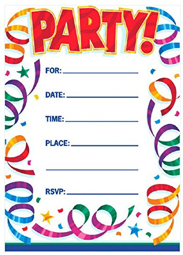 96 ct TradeMart Inc Party Supply Party Streamers Postcard Invitations 494070