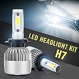 Focos delanteros LED COB para coche, 2 unidades, 40 W, 10000 lúmenes, todo en uno, luz antiniebla de faros delanteros LED para coche, luz delantera blanca 6000 K  H1 H4 H7 H8 H9 H10 H11 H13 HB1-HB5 9003-9008 (conectar y usar + resistente al agua + a prueba de golpes + resistente al polvo), H7