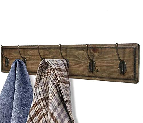 ArgoHome Coat Rack Wall Mounted, Wooden 27